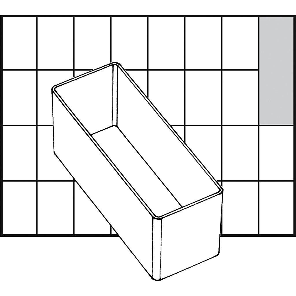 Raaco Godet De Rangement, A9-2, H: 47 mm, 109x39 mm, 1 Pièce