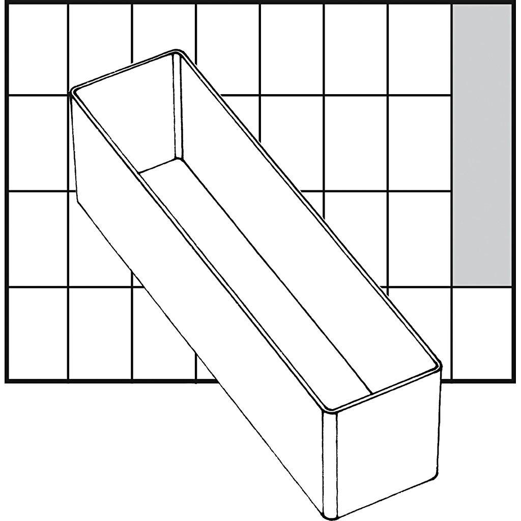 Raaco Godet De Rangement, A9-3, H: 47 mm, 163x39 mm, 1 Pièce