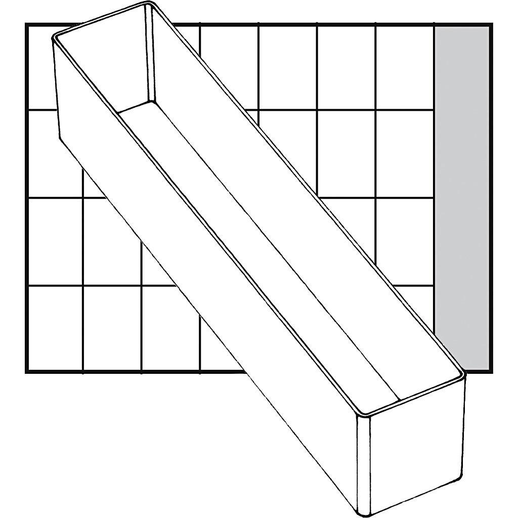 Raaco Godet De Rangement, A9-4, H: 47 mm, 218x39 mm, 1 Pièce