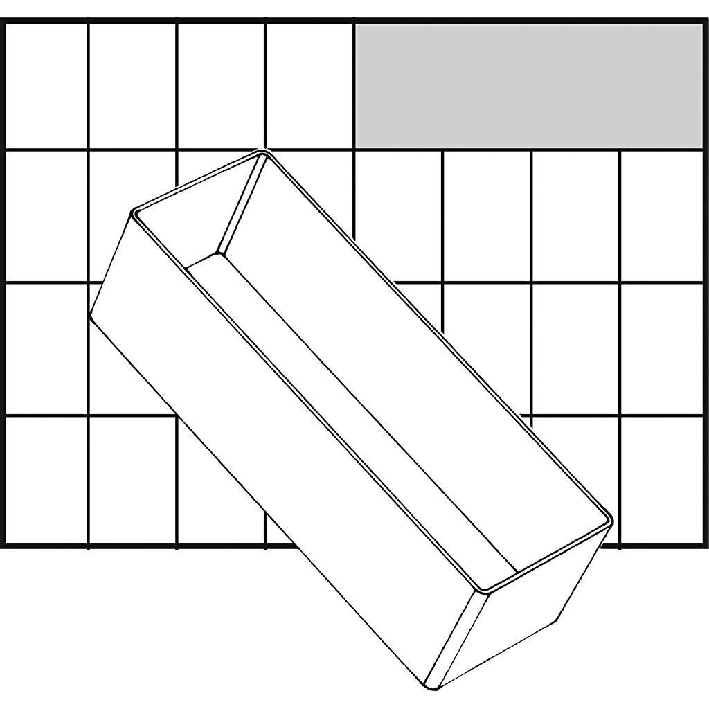 Raaco Godet De Rangement, A8-2, H: 47 mm, 157x55 mm, 1 Pièce