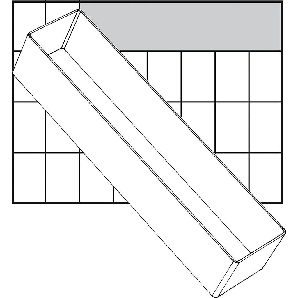 Raaco Godet De Rangement, A8-3, H: 47 mm, 235x55 mm, 1 Pièce