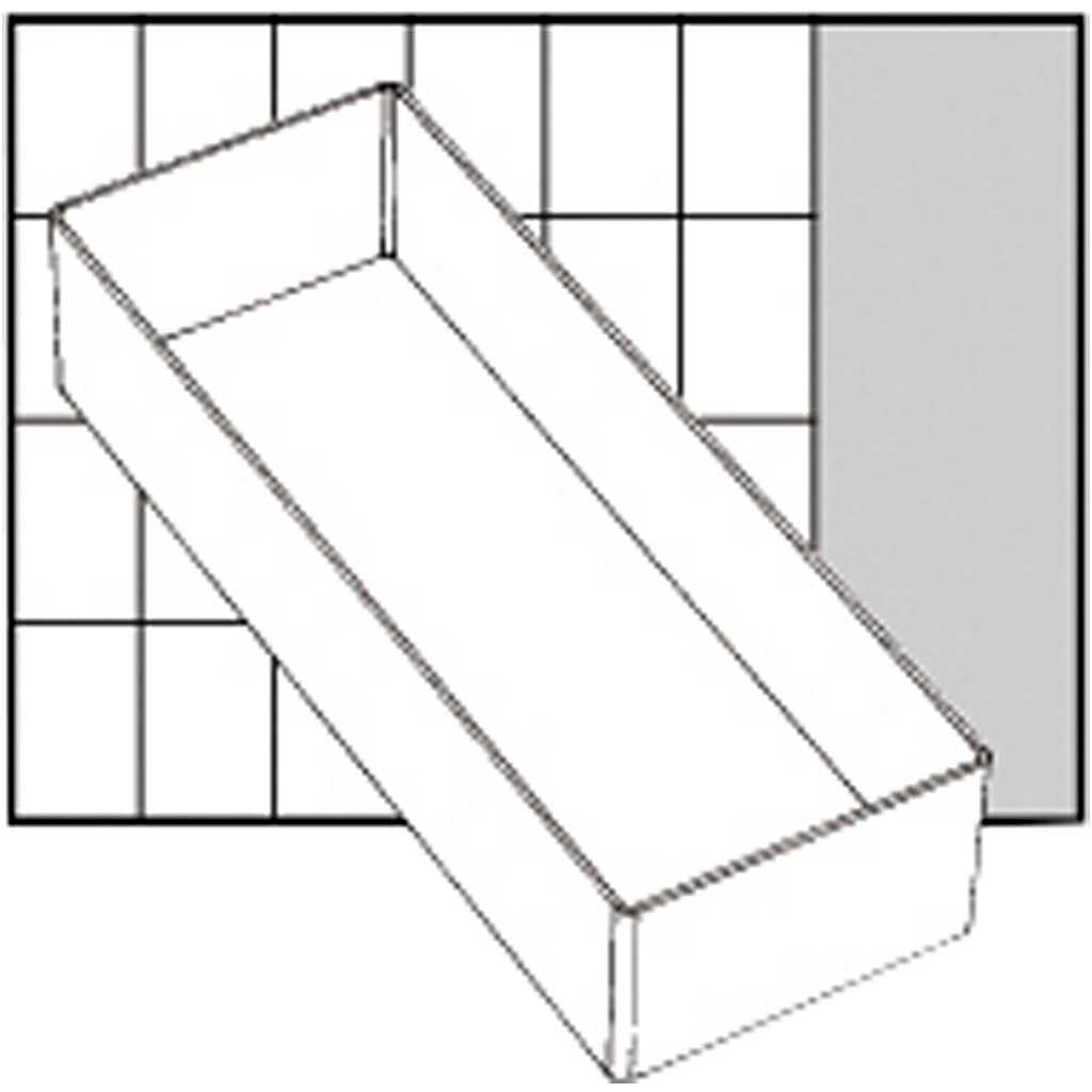 Raaco Godet De Rangement, A7-2, H: 47 mm, 218x79 mm, 1 Pièce