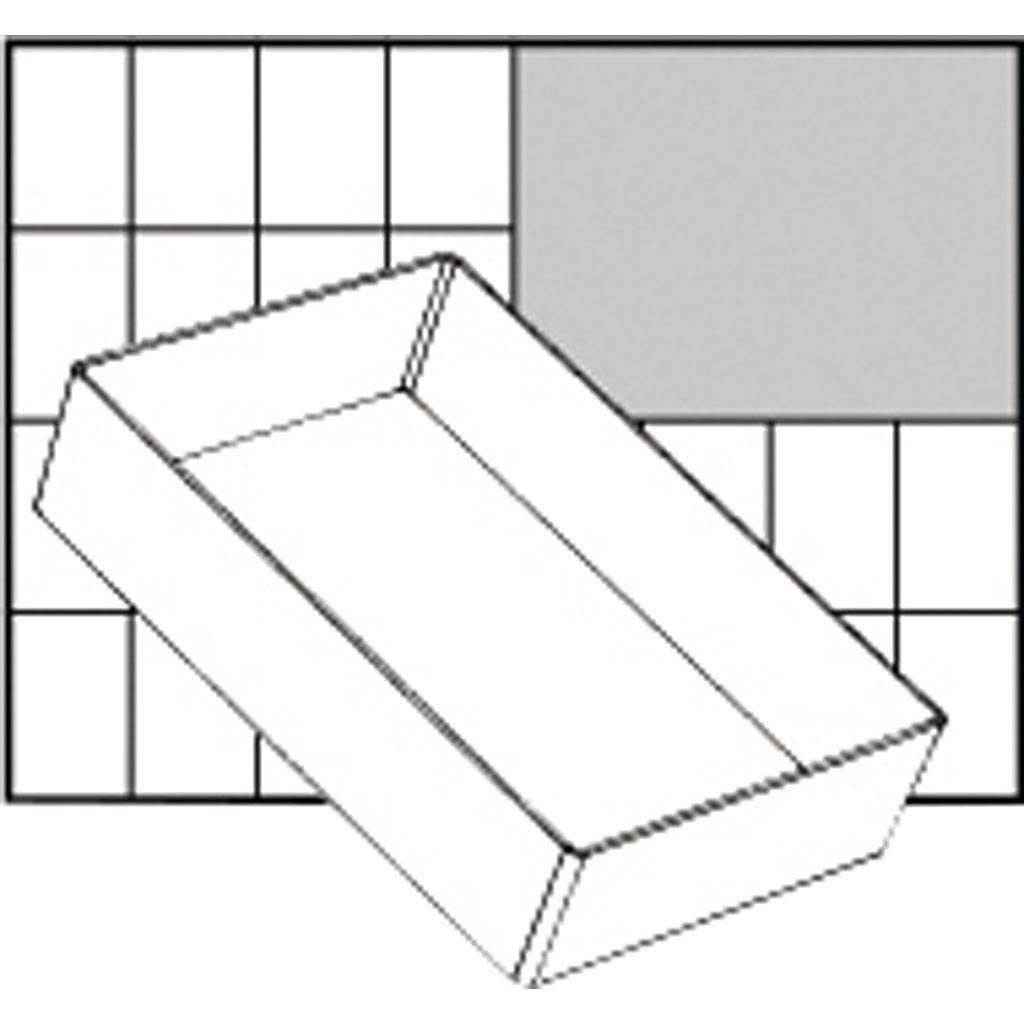Raaco Godet De Rangement, A6-1, H: 47 mm, 157x109 mm, 1 Pièce