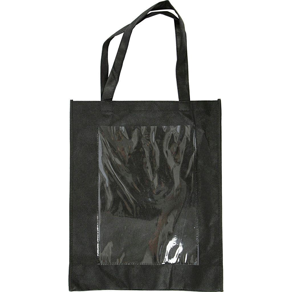 Creativ Company Sac Personnalisables, 42x34x12 cm, Noir, 1 Pièce