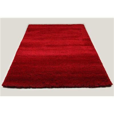 Happymobili Tapis de salon shaggy rouge SWEET 3