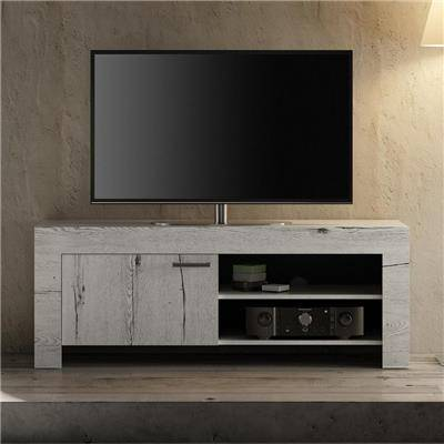 Happymobili Petit meuble tv couleur chêne blanchi THELMA 2
