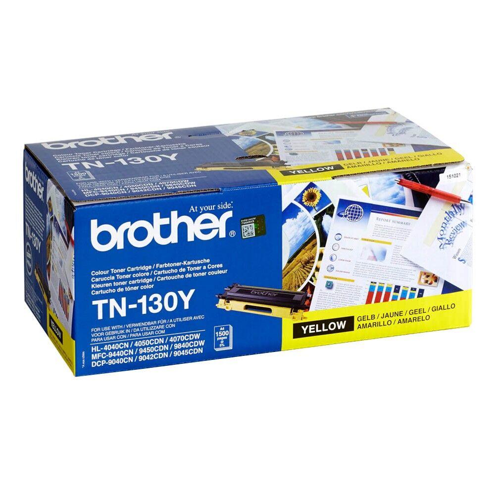 Brother Cartouche de toner d'origine Brother TN130Y Jaune - TN-130Y