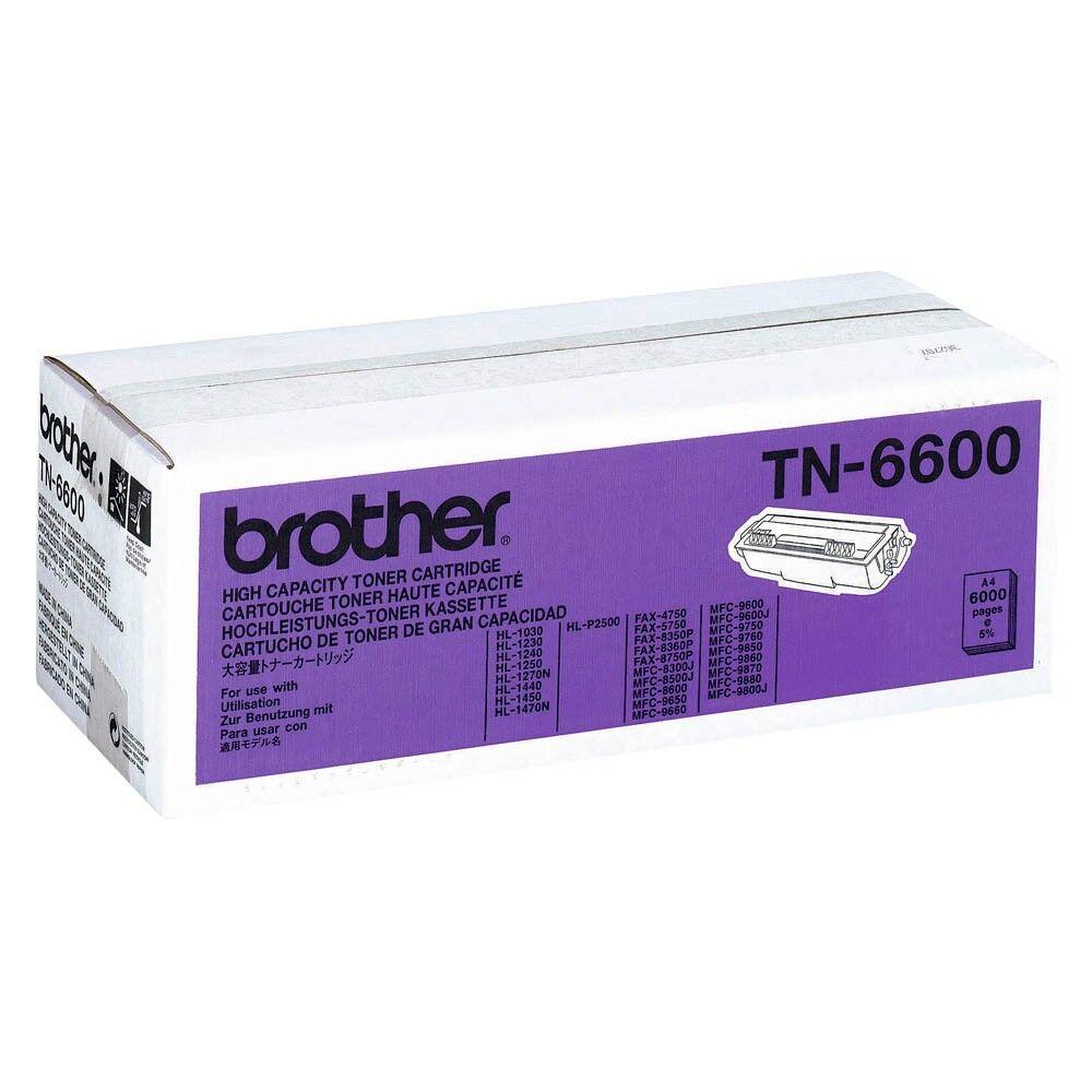 Brother Cartouche de toner d'origine Brother TN6600 Noir - TN-6600