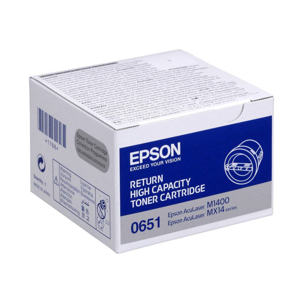 Epson Cartouche de toner d'origine Epson 0651 Noir - C13S050651