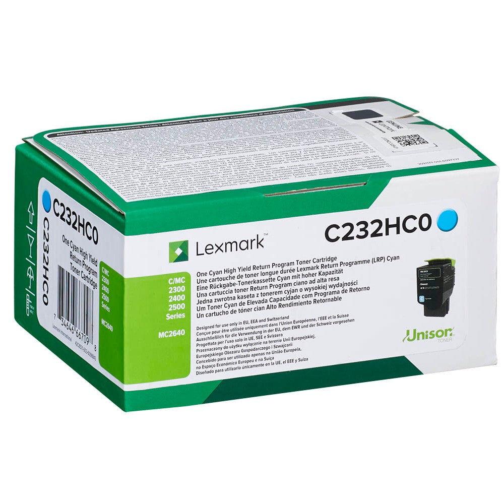 Lexmark Cartouche de toner d'origine Lexmark Cyan - C232HC0