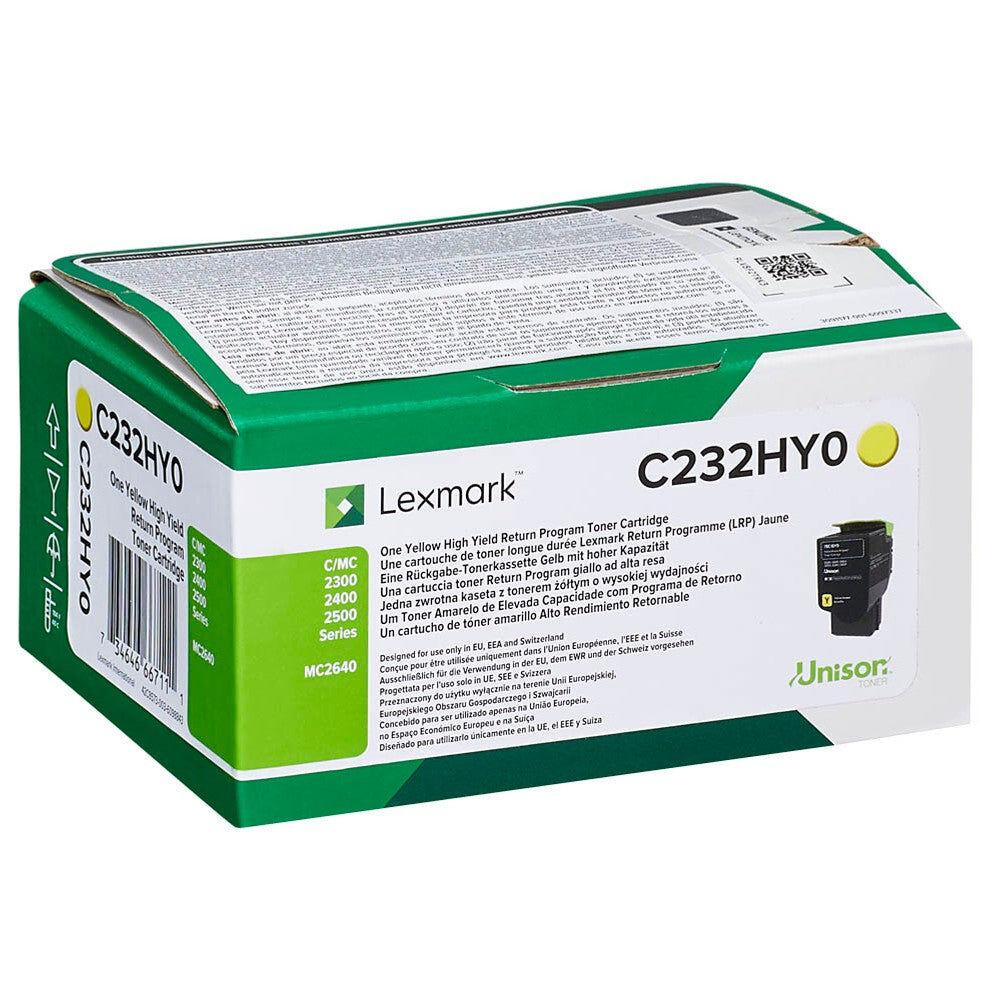 Lexmark Cartouche de toner d'origine Lexmark Jaune - C232HY0
