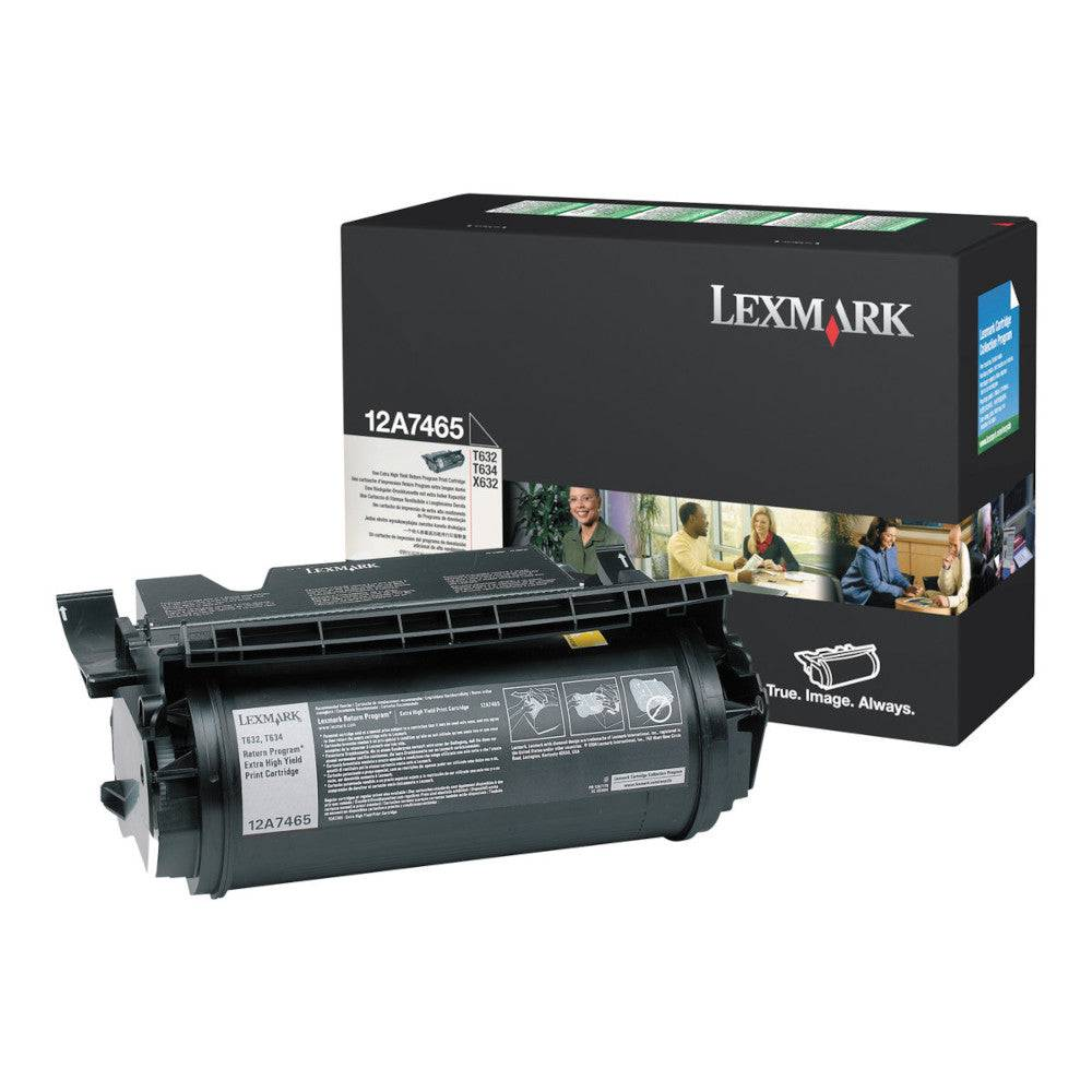 Lexmark Cartouche de toner d'origine Lexmark Noir - 12A7465