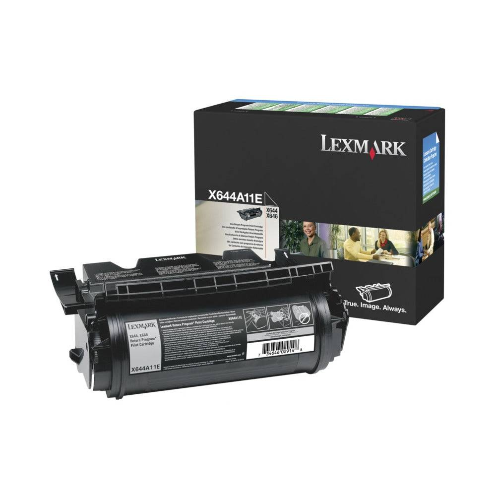 Lexmark Cartouche de toner d'origine Lexmark Noir - X644A11E