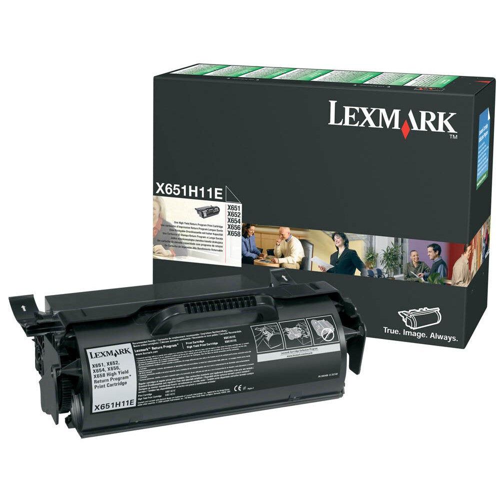 Lexmark Cartouche de toner d'origine Lexmark Noir - X651H11E