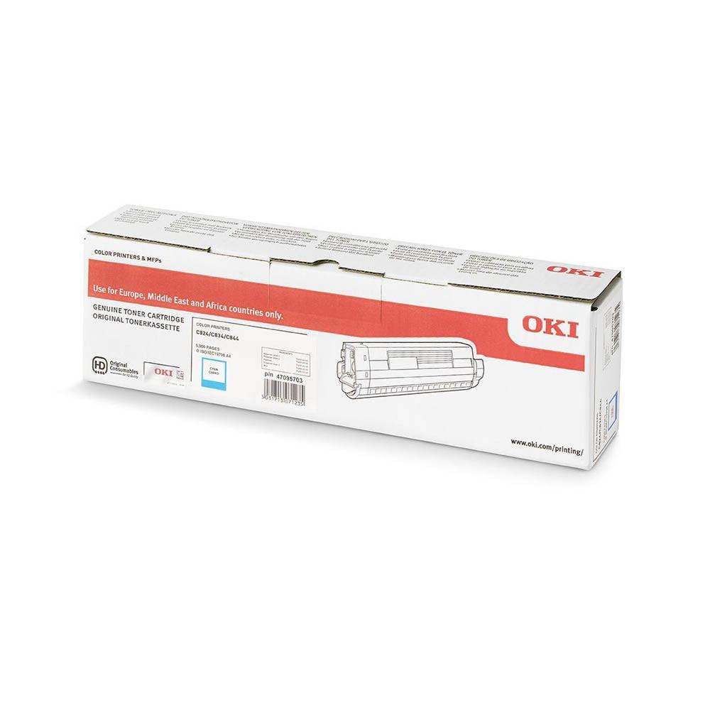 OKI Cartouche de toner d'origine OKI Cyan - 47095703