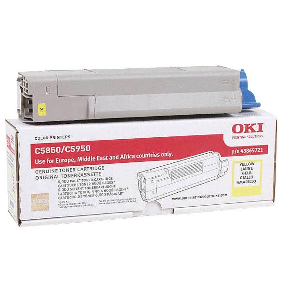 OKI Cartouche de toner d'origine OKI Jaune - 43865721
