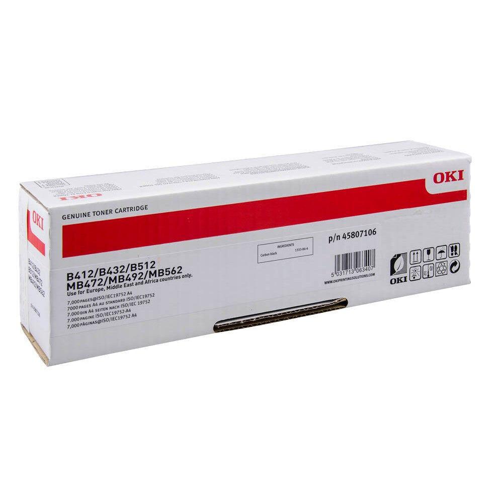 OKI Cartouche de toner d'origine OKI Noir - 45807106
