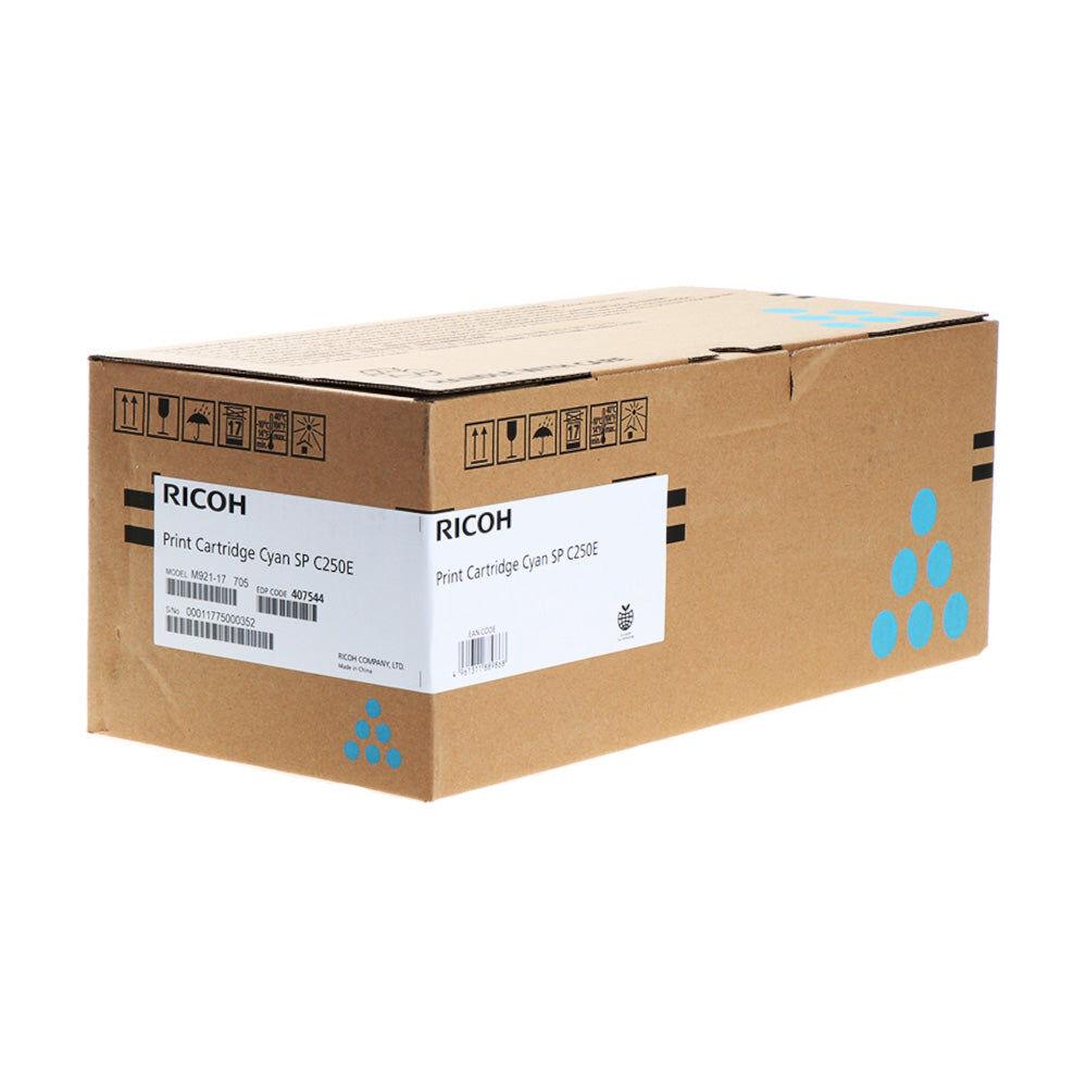 Ricoh Cartouche de toner d'origine Ricoh SP C250 Cyan - 407544