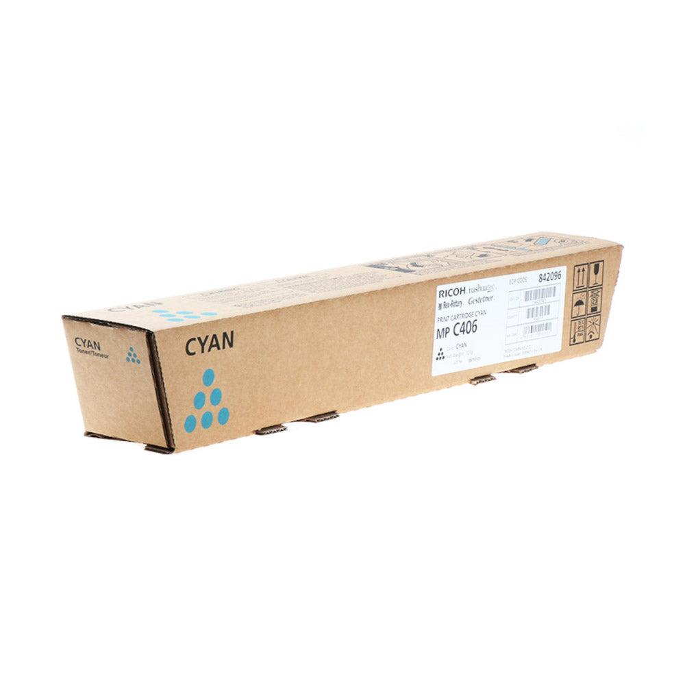 Ricoh Cartouche de toner d'origine Ricoh MP C406 Cyan - 842096