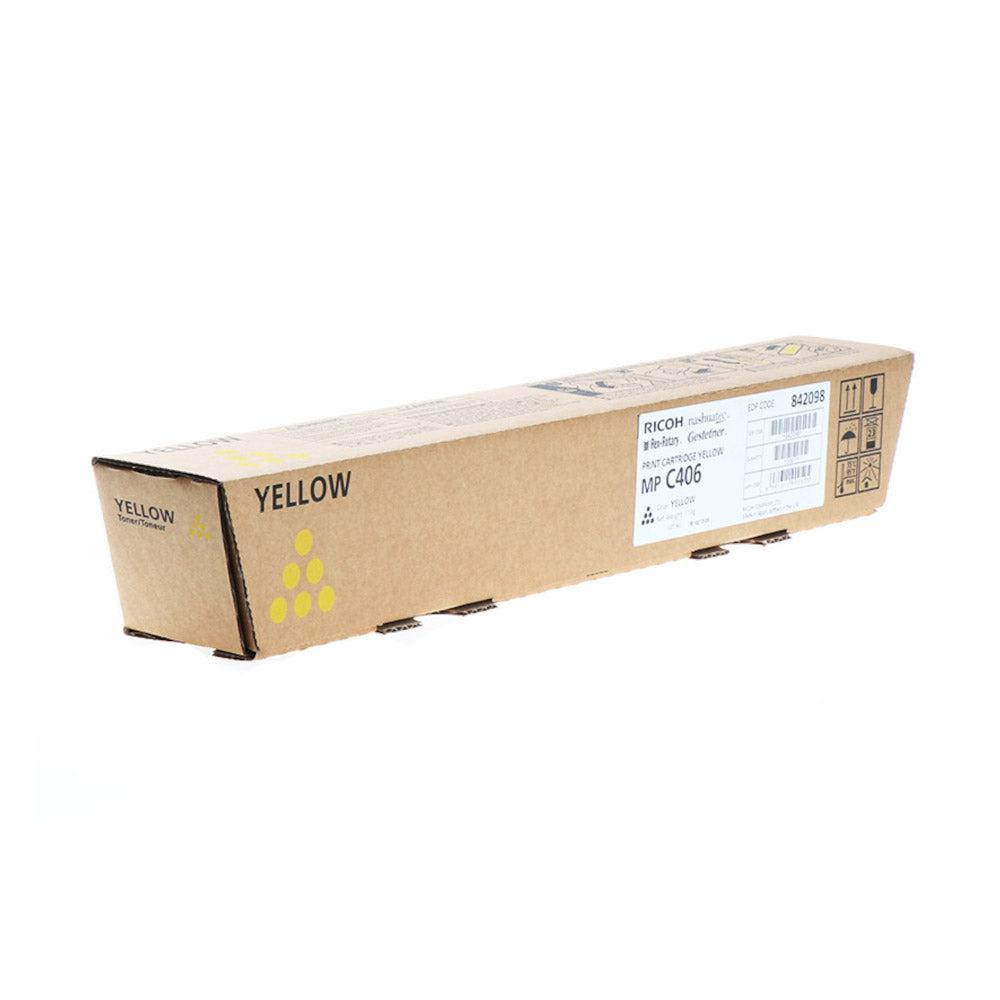 Ricoh Cartouche de toner d'origine Ricoh MP C406 Jaune - 842098