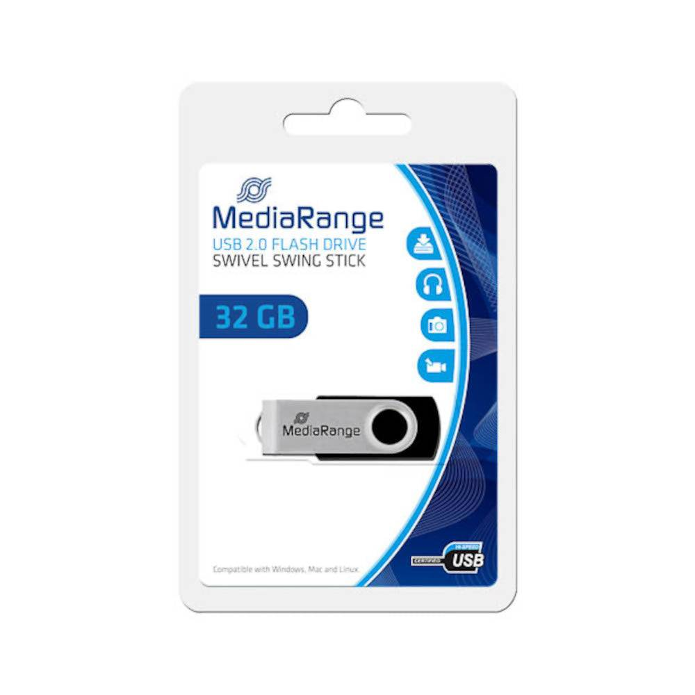 MediaRange Clé USB 32Go MediaRange Flexi Flash Drive 15MB/S USB 2.0 - MR911