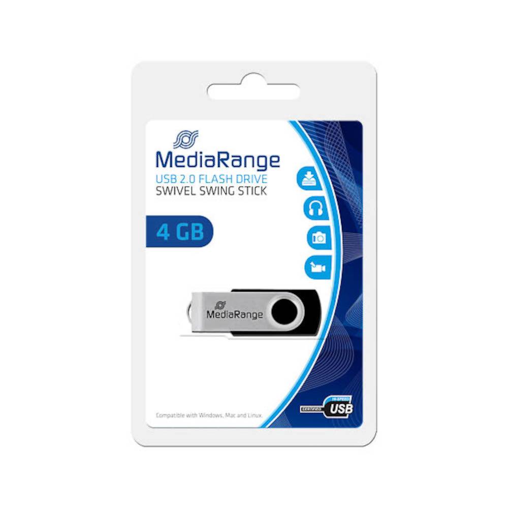MediaRange Clé USB 4Go MediaRange Flexi Flash Drive 15MB/S USB 2.0 - MR907