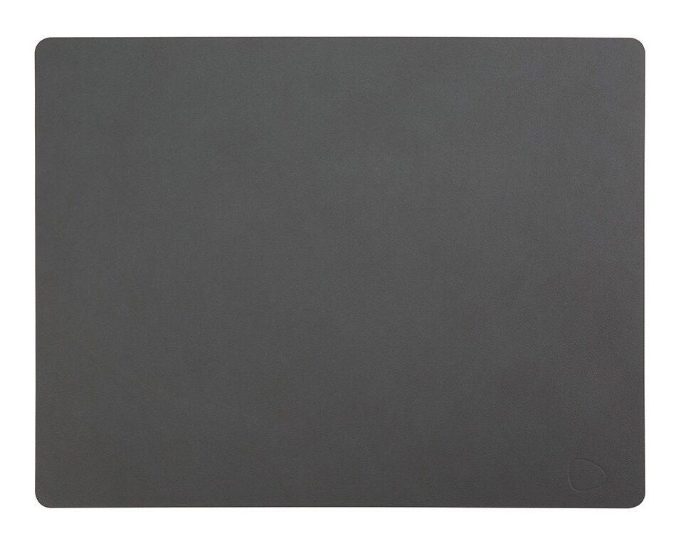 LIND DNA Set de Table Cuir Nupo Anthracite 35x45 cm