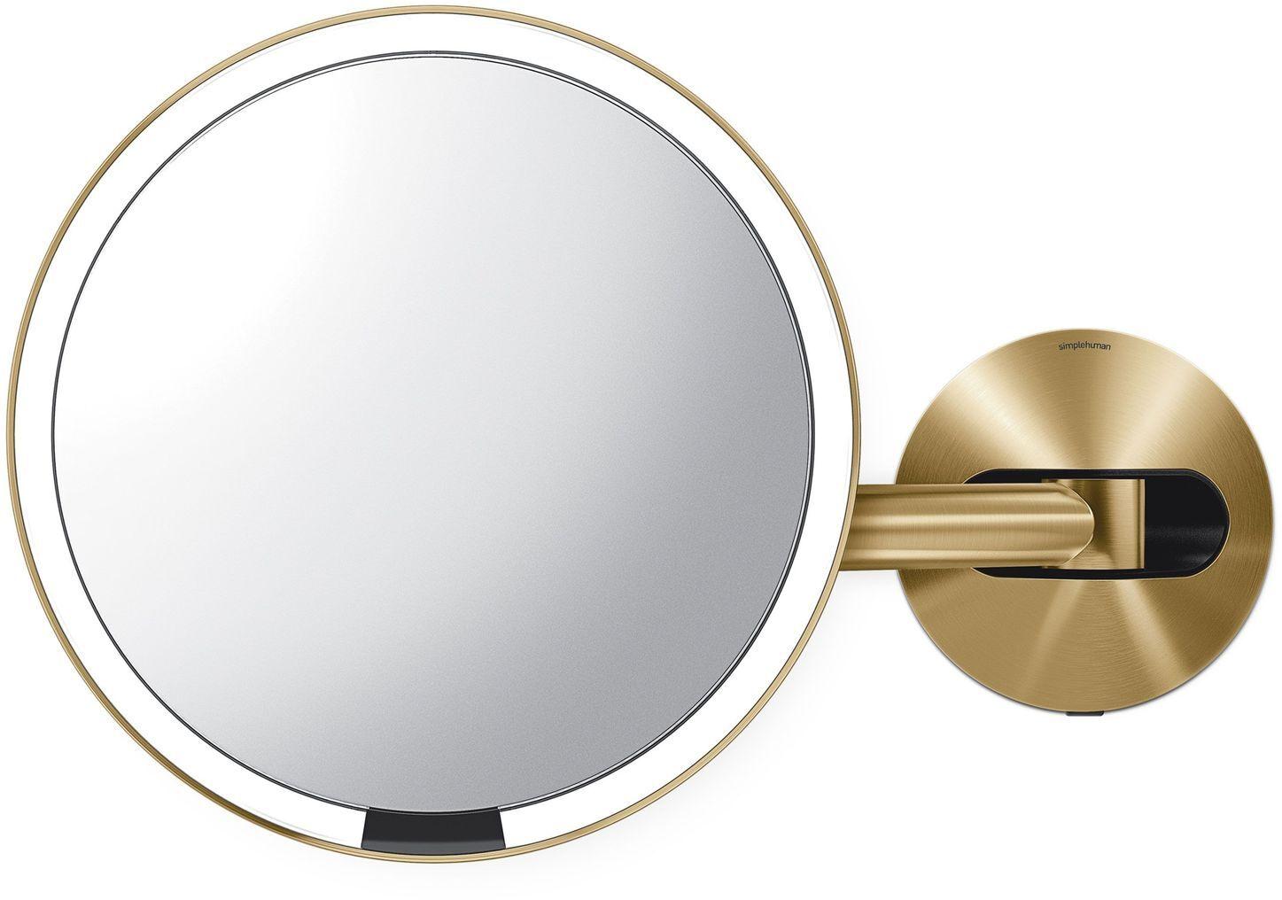 Simplehuman Sensor Miroir Maquillage - Laiton - Rechargeable