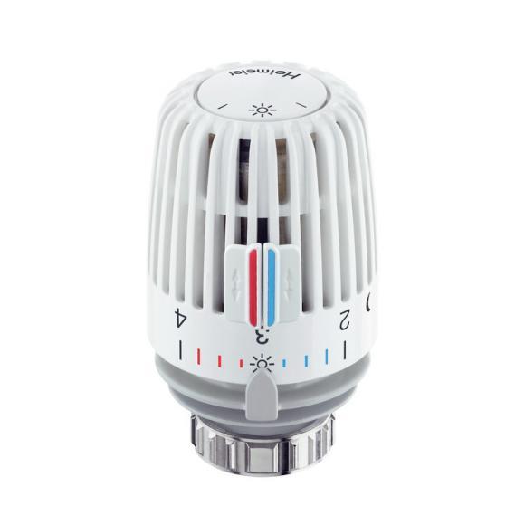 HEIMEIER Tête thermostatique K avec capteur intégré, plage de consigne de 6 °C à 27 °C, 6000-00.500