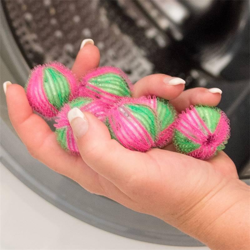 6 billes de lavage, boules de lavage contre les poils d'animaux