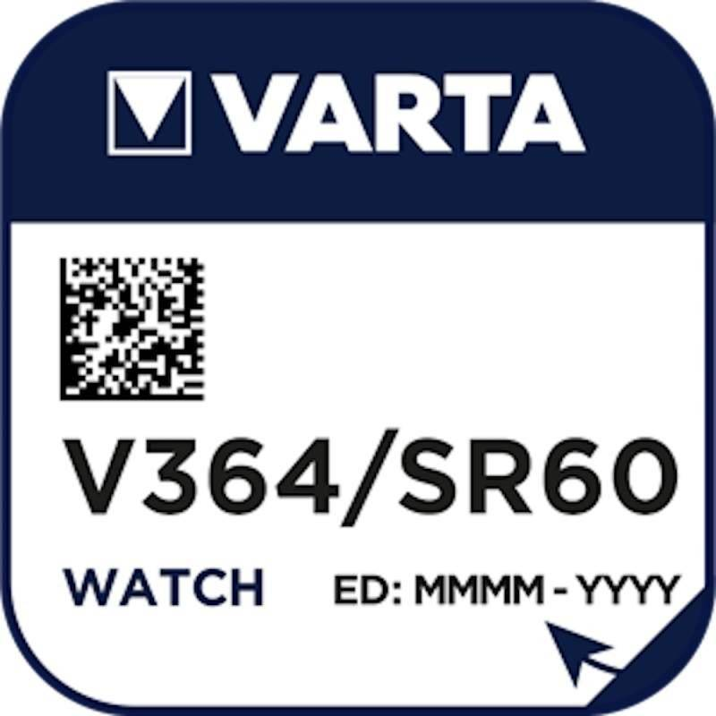 Varta Pile Montre Varta 364 / SR60 / SR621 / SR621SW / AG1