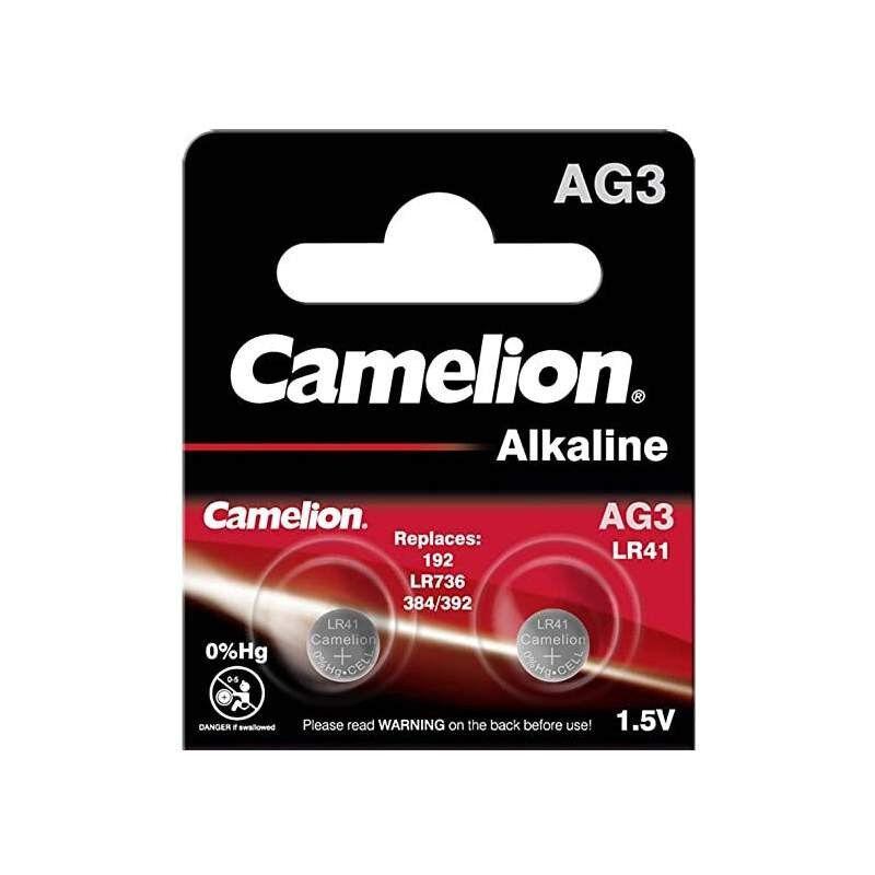 Camelion 2 Piles Alcaline Camelion 1,5V / LR41 / AG3 / 392 / 192