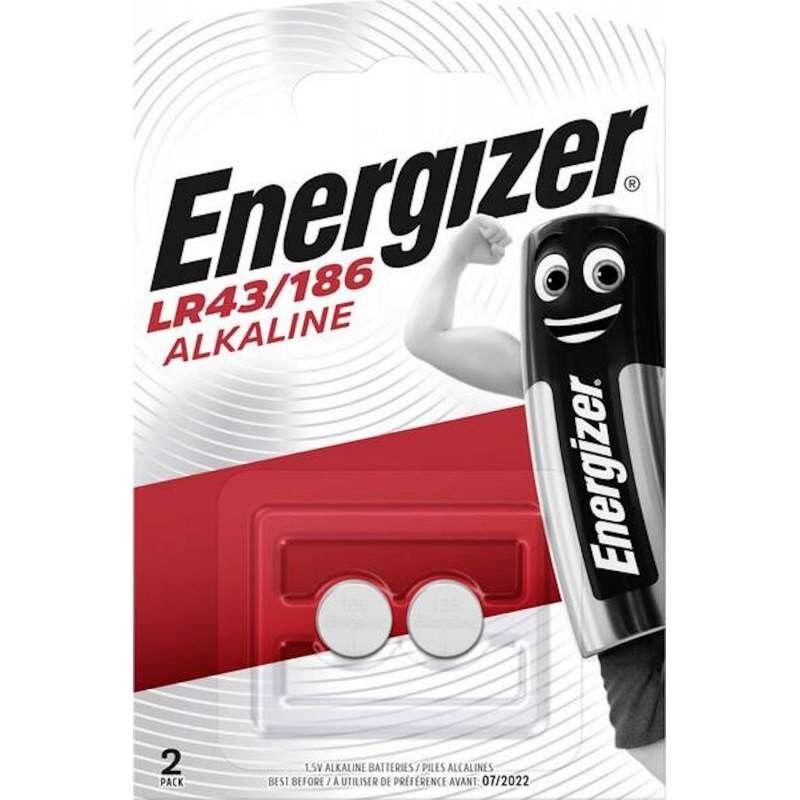 Energizer 2 Piles Alcaline Energizer 1,5V LR43 / 186 / V12GA