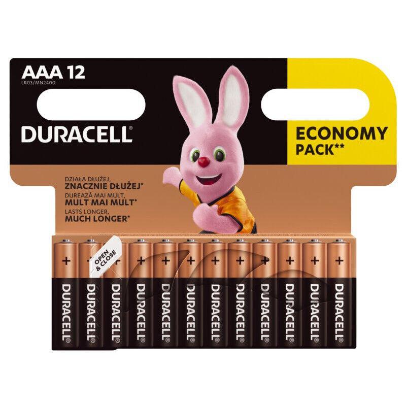 Duracell 12 Piles Alcaline Duracell AAA / LR03