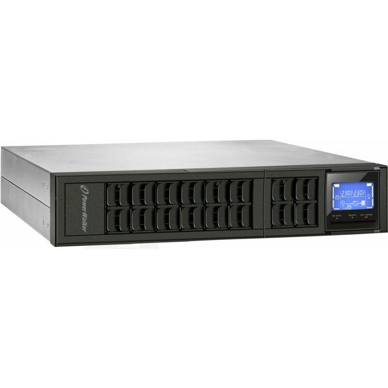 BlueWalker VFI 2000CRM LCD - Double-conversion (en ligne) - 2000 VA - 1600 W - Sinus - 110 V - 300 V (10122001) - Bluewalker