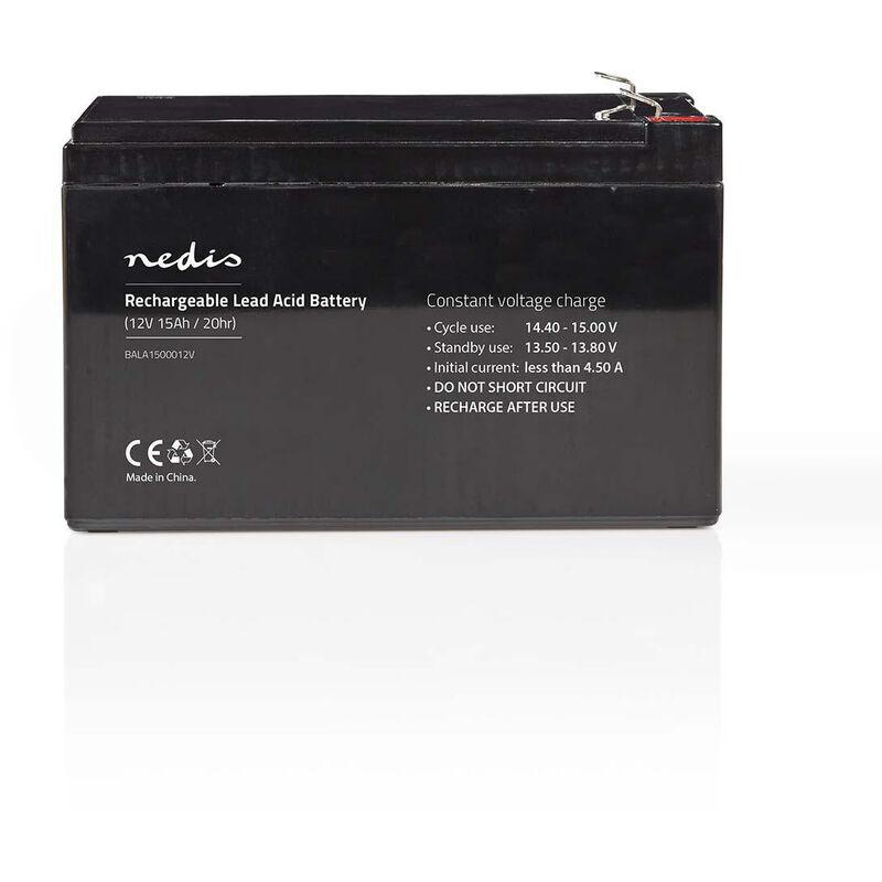 Nedis Pile rechargeable plomb-acide   Plomb-acide   Rechargeables   12 V   15000 mAh   151 mm   98 mm   95 mm NE550677744 - Nedis