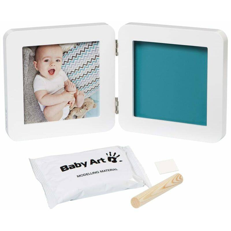 Baby Art Cadre à empreinte Essentials My Baby Touch Blanc