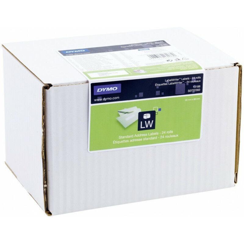 Dymo Étiquettes d'adresse standard - Blanc - Imprimante d'étiquette adhésive - Papier - Permanent - Rectangle - LabelWriter (S0722360) - Dymo
