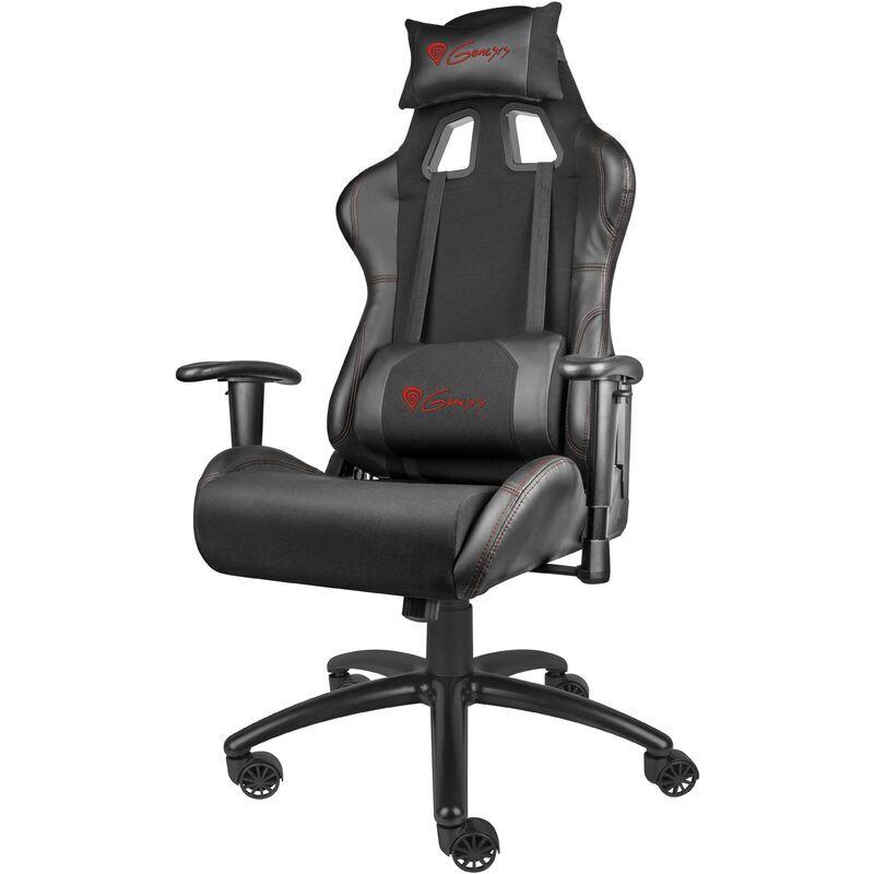 GÉNÉSIS Genesis Chaise de jeu Nitro 550 Noire, cuir, noir