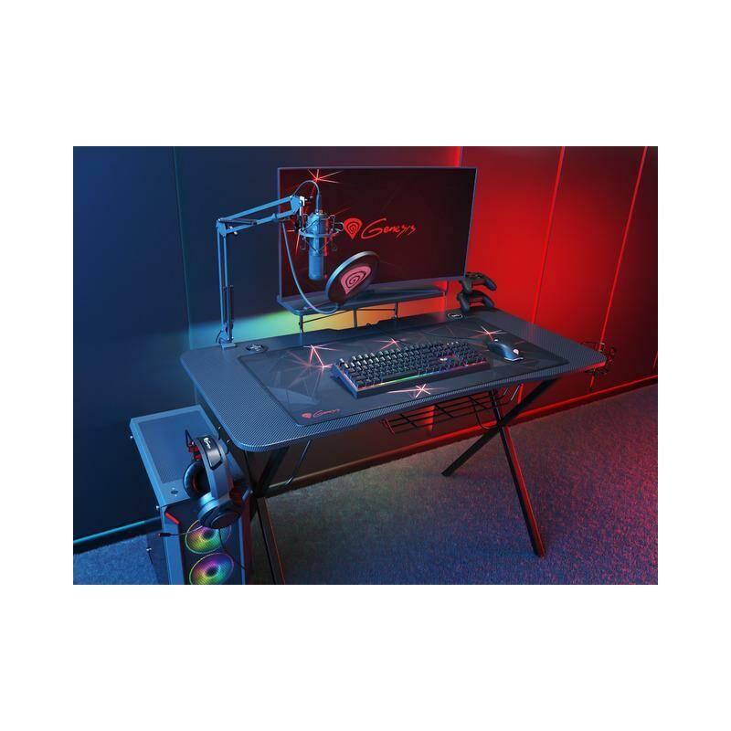 NATEC Genesis Holm - Table de jeu, noire