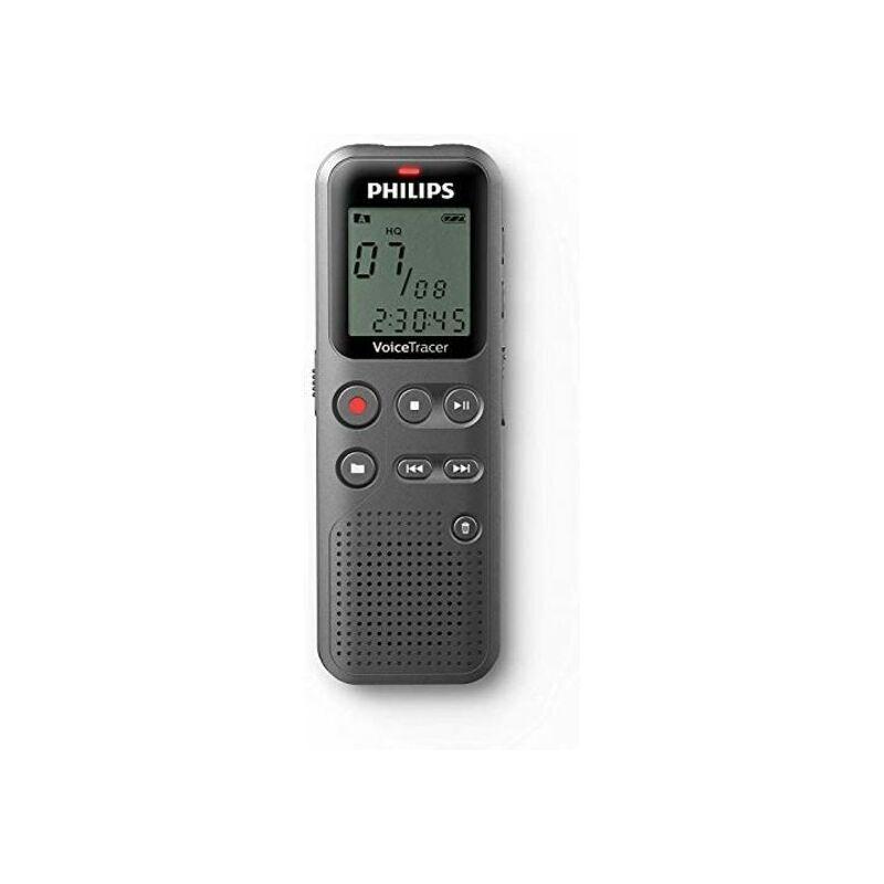 Philips DVT 1110 - Enregistreur vocal numérique, 4 Go, port USB, argenté