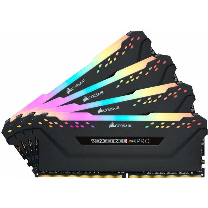 Corsair Vengeance CMW64GX4M4A2666C16 - 64 Go - 4 x 16 Go - DDR4 - 2666 MHz - 288-pin DIMM (CMW64GX4M4A2666C16) - Corsair