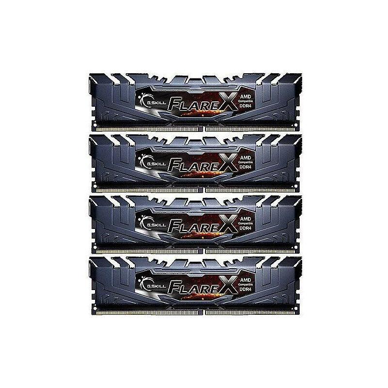 G.Skill Flare X - 32 Go - 4 x 8 Go - DDR4 - 3200 MHz - 288-pin DIMM (F4-3200C14Q-32GFX) - G.skill