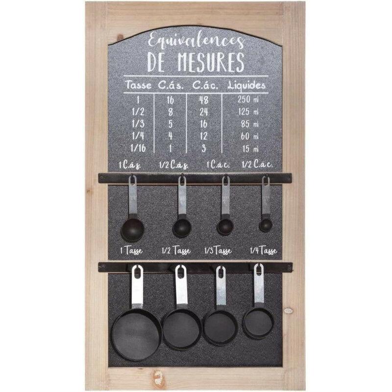 AC-DÉCO Tableau mesure - Cuisine - L 40 cm x l 6,5 cm - Noir - Livraison gratuite