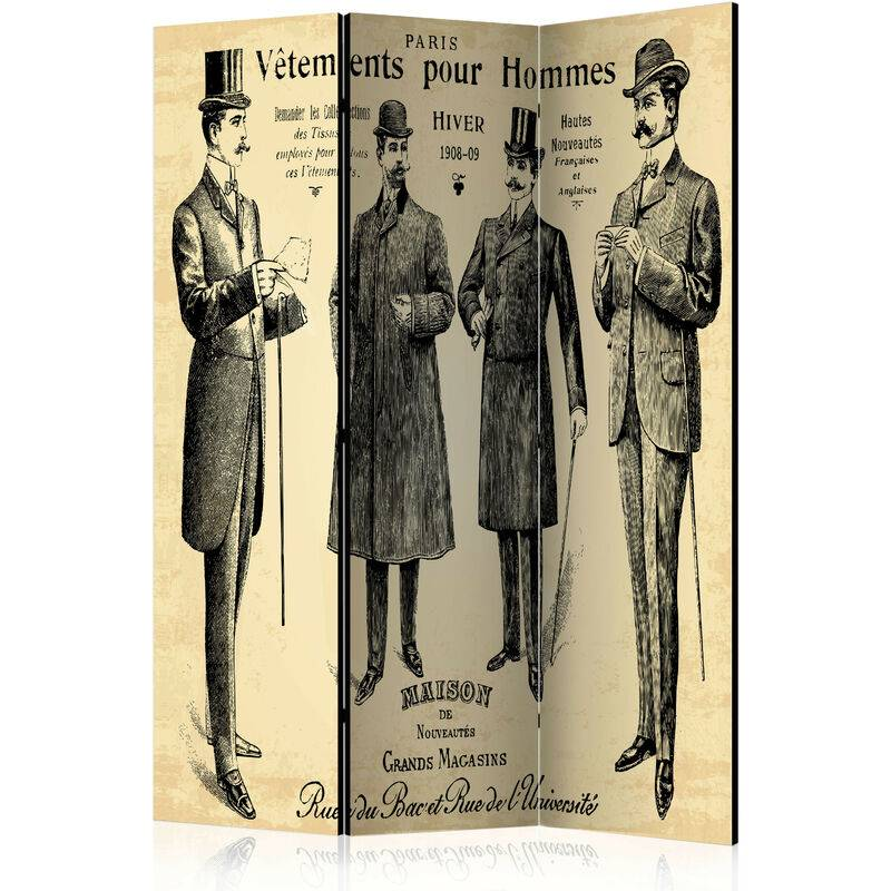 Artgeist - Paravent 3 volets Vêtements pour Homme - Taille L 135 x H 172 cm
