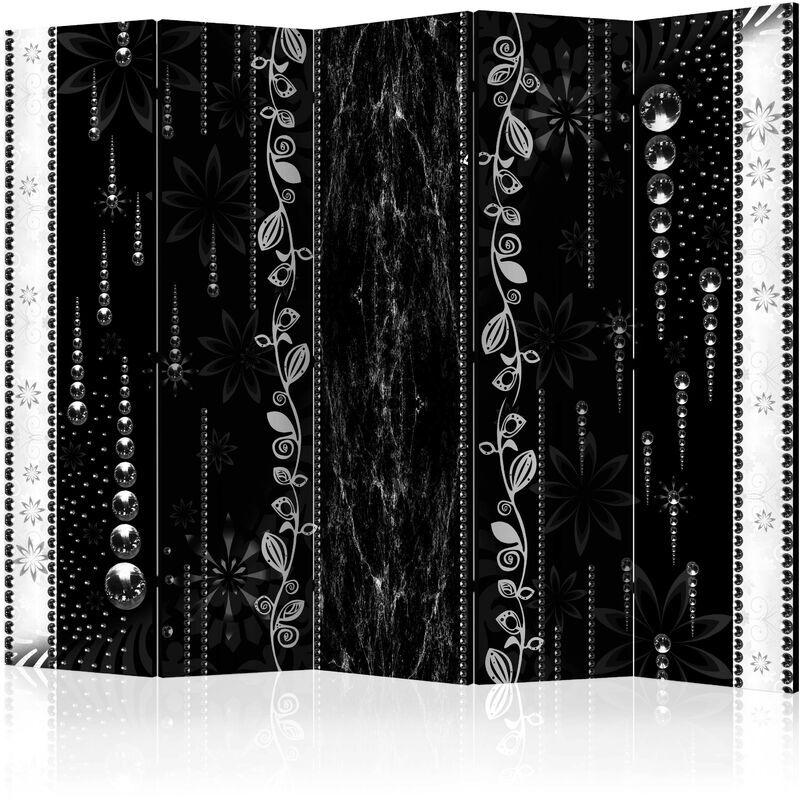 Artgeist - Paravent 5 volets Black Elegance II - Taille 225 x 172 cm