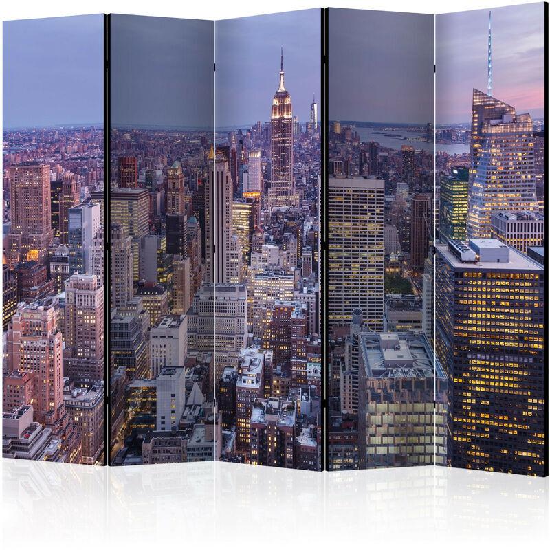 Artgeist - Paravent 5 volets Evening City II - Taille 225 x 172 cm