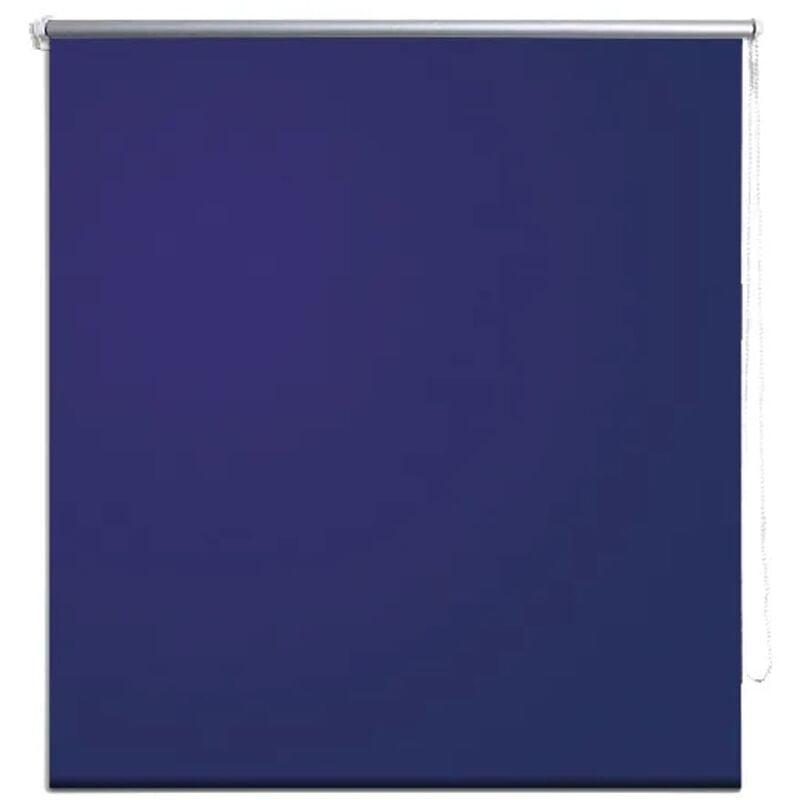 VIDAXL Store Enrouleur Occultant 140x230 cm Bleu