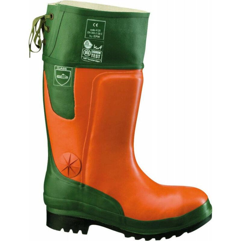 FP - Bottes en caoutchouc forestier Ulme orange/vert Taille 48