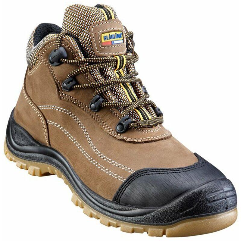 BLAKLADER Chaussures de sécurité mi-hautes Blaklader Cuir Nubuck S3 Marron 48